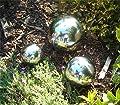 NOBLESSE Edelstahl-Rosenkugelset, 3 Stück 1 x groß, 1 x mittel, 1 x klein von NOBLESSE auf Du und dein Garten
