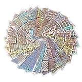 Nagelsticker Nagel Aufkleber - 288 Stück Nail Art Vinyls - DIY Nagellack Schablone für Nageldesign und Maniküre, 24 Blatt, 72 Designs (24pes) (288 Stück Nagelaufkleber)