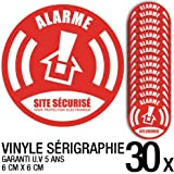 Lot de 30 autocollants / stickers Alarme sécurité