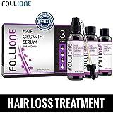 FolliOne Haarwachstums-Serum gegen Haarausfall für Frauen, regeneriert und stärkt das Haar - natürlich und effektiv gegen Haarverlust, 3 x 60ml (3-Monatspackung)