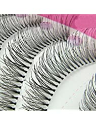10Pairs Natural Thick Long False Eyelashes Fake Eye Lashes Voluminous Makeup Set