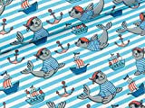 Swafing Steinbeck Maritimer Baumwolljersey Seelöwen auf