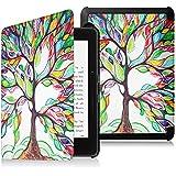 Fintie Étui Kindle Voyage - Housse étui Flip en cuir super fin et léger, fermeture magnétique avec mise en veille automatique pour Amazon Kindle Voyage (7ème génération) 6 Pouces, Love Tree
