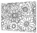 Pintcolor 7166.0Keilrahmen mit Leinwand Bedruckt Zum Ausmalen, Tannenholz/Baumwolle, Weiß/Schwarz, 50x 40x 3.5cm
