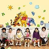 ufengke home Winnie The Pooh & Freunde Wand-Aufkleber für Kinder Umfasst Pooh, Ferkel, Eeyore & Tigger Dekorative Wandtattoo Abnehmbare DIY Vinyl Wandsticker für Kinderzimmer,Spielzimmer