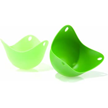 Fusion Brands Poachpod Silicone Egg Poacher - Green, Pack of 2