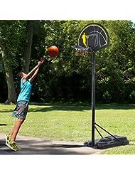Canasta de Baloncesto Movil Altura Ajustable 245-305cm con Ruedas Aro Basquet + Red