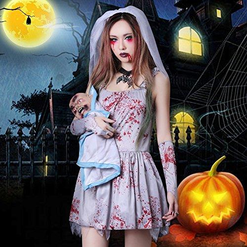 Halloween Rollenspiel Cosplay Kostüm weiblich Horror Vampir Kleid Erwachsene Geist Braut Zombie Anzug Festival / Halloween / (Vampir Weibliche Erwachsene Kostüme)