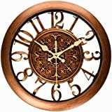 Foxtop 11 Inch Vintage Silent Wall Clock Living Room Clocks With Creative  Hollow Design, See Through The Wall, Retro Wall Clock With Arabic Numeral  Display ... Part 42
