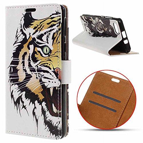 DOOGEE X20L / DOOGEE X20 (5.0 Zoll) Hülle,MSK® Handyhülle DOOGEE X20L Case Cover Tasche Brieftasche Flip Hülle im Bookstyle Schale Ledertasche Schutzhülle Für DOOGEE X20L / DOOGEE X20 - Tigre