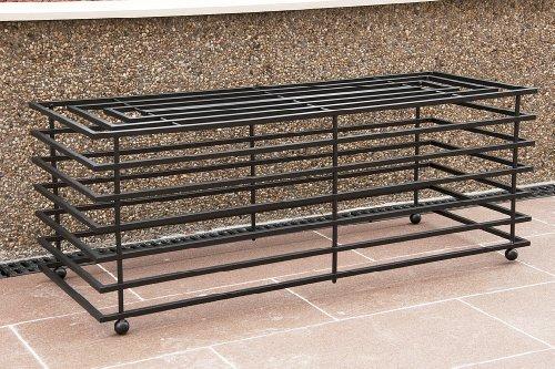 DanDiBo Bank Futura Modern Gartenbank 11670 Sitzbank 110 cm aus Metall Eisen Blumenbank - 6