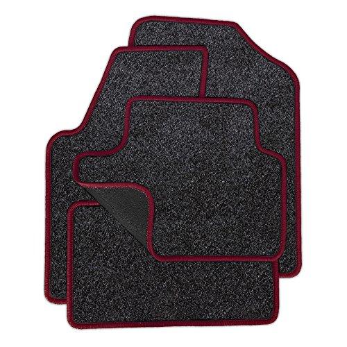 Eight Tec Handelsagentur VMELET_26666 Passgenaue Nadelfilz-Fußmatten Grau-meliert und Rand in Bordeaux - Fahrzeugtyp in der Artikelbeschreibung beachten!