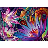 5D Diamond Painting kit completo drill DIY strass ricamo a punto croce Craft Arts for home Wall Decor Colorful Lotus 30 x 40 cm,pittura diamante diy