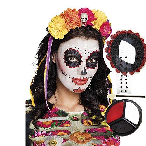 Halloween Make-up mit Schminkanleitung | Los Muertos -Schminke