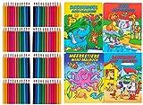 Sets Buntstifte Malset für Kinder Gastgeschenke Mitgebsel für Kinderparty Geburtstag, mit Malbüchern (8 Set 12er +Malbüchern)