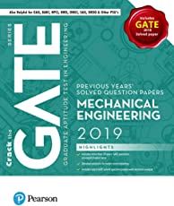 Previous Years' Solved Question Papers: GATE Mechanical Engineering, 2019 by Pearson