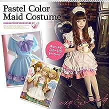 L Azul claro: Halloween criada de la criada cosplay del traje del traje de gran tamano L de Lolita cosplay de anime maid cafe maid cafe Akiba traje disfraz anime anime (L, de color azul claro)