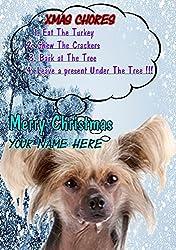 Chinesischer Schopfhund ptcc280Xmas Weihnachten Karte A5personalisierbar Karten geschrieben von uns Geschenke für alle 2016von Derbyshire UK...