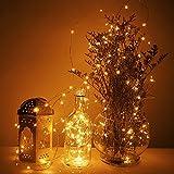 Deuba® Leuchtdraht Lichterkette Beleuchtung Drahtlichterkette I mit 80 LEDs I warmweiß I biegsam