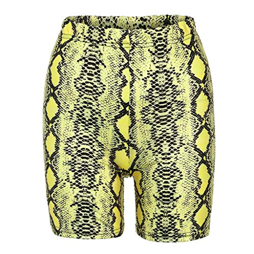 Spandex-vintage-shorts (Angebot UFODB Damen Shorts Sport Yoga Sexy Kurze Hose Sweatpants Laufshorts Snakeskin Print Leggings Sports Casual Bikerhose Sportshorts Strandhosen)
