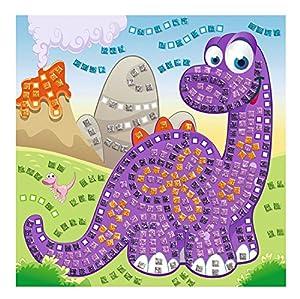 Ursus 8420008-Musgo Goma Mosaico de Dinosaurios con Glitter, 434Piezas, Multicolor
