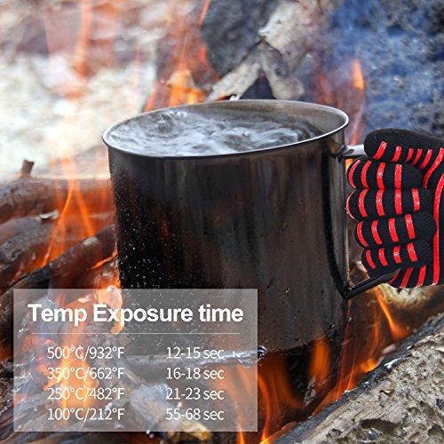 comprare on line Merisny Professionali Guanti BBQ 500℃,Guanto Cucina con Traspirante Cotone per Forno Barbecue prezzo