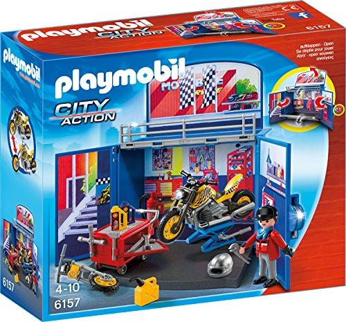 Playmobil 6157 - Motorradwerkstatt, Aufklapp-Spiel-Box