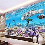 BZDHWWH 3D Tropische Fische Aquarium Unterwasserwelt Wand Professionelle Produktion Wallpaper Wandbild Benutzerdefinierte Foto,50Cm (H) X 70Cm (W)