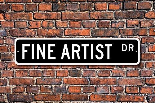 Stree decorativo segni fine Artist Sign Gift Art studio Sign metal Wall Plaque Funny 10x 45cm