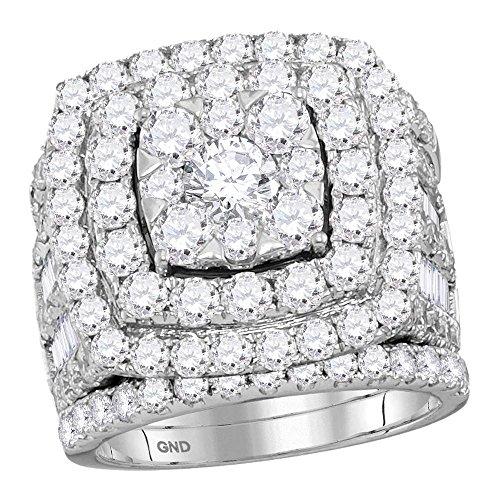 Sonia Jewels - 14 Kt Weißgold Rundschliff Leicht Getöntes Weiß/Crystal (J) Weißer Diamant