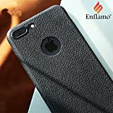 iPhone 7 Plus case, Enflamo Bumper Protective Back Matte TPU Soft Rubber Silicone Black Case Cover Phone Case for Apple iPhone 7 Plus 5.5 inch (Textured Black)