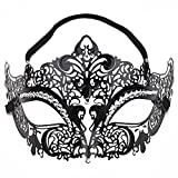 Merssavo Sexy Femme Masques de Masquerade Deguisement Masques de Venise pour Les Yeux pour Halloween Partie Vampire Carnaval Balle Noir (Size 1)