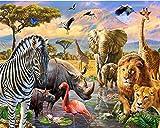 Diy Ölgemälde Malen nach Nummer Kit für Kinder Erwachsene Anfänger 16x20 Zoll - Tierwelt, Zeichnen mit Pinsel Weihnachtsdekor Dekorationen Geschenke (Ohne Rahmen)
