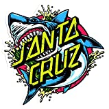 Santa Cruz Skateboard / Surf Sticker - Shark Dot - Approx 15.5cm wide. surfing skating board surfboard