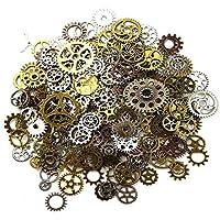 Awtlife 300 Gram Assorted Vintage Antique Steampunk Gears Charms Reloj Rueda dentada Sets 5 Color