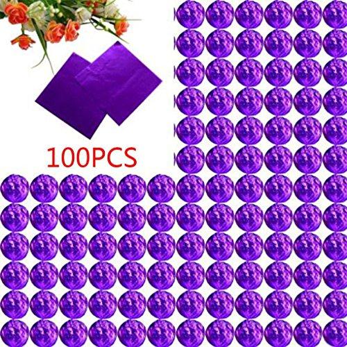 Chowcencen 100pcs Platz Aluminiumfolie Wrappers Bunte Paket für Süßwaren Süßigkeit Schokolade Lollipops