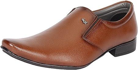 Kraasa Men's Black Leather Formal Shoes