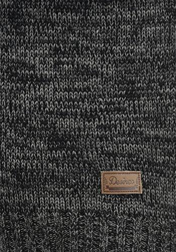 DESIRES Philadelphia Damen Strickjacke Cardigan mit Kapuze aus 100% Baumwolle Meliert Black (9000)
