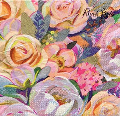 Punch Studio Salbei Floral Bouquet Papier Servietten 12676, Set 40 -
