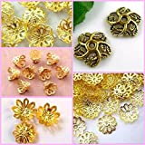 #5: Goelx Fancy Flower Bead Caps For Silk Thread Jewellery Making