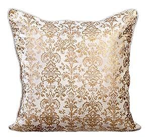 handgefertigt wei kissenbez ge 65x65 inch zierkissen damast bedruckter samt sofakissen platz. Black Bedroom Furniture Sets. Home Design Ideas