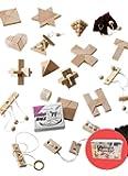 GICO Knobelspiel Klassiker Set - Geschicklichkeitsspiele / Geduldspiele Sets - incl. Lösung (24er)