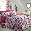 Double Bed Butterfly Floral Maison Duvet Cover Bedding Set Easy Care Polycotton produced by Velosso - quick delivery from UK.