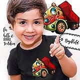 Bügelbilder Applikation Kipper Laster Bügelbild Bügelmotiv Baustellen Fahrzeug Aufbügelbilder für Jungs bb056 ilka parey wandtattoo-welt®