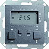 Gira 237028 Thermostat à horloge Anthracite 230 V