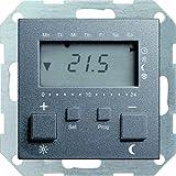 Gira 237028 Raumtemperatur-Regler 230 V mit Uhr System 55, anthrazit