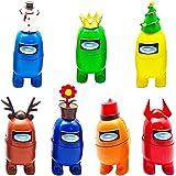 BESTZY Among Us Figuras en Miniatura 7PCS Among Us Figure Toy Entre Nosotros Juguetes Navidad DIY Figuras de Jardín Decoracio