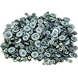 Demarkt Harz Knöpfe zum Basteln DIY Material 7-28MM 660 Stück Grau Serie (Grau)