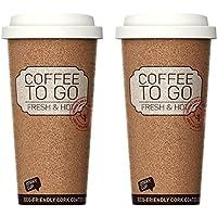Life Story Termos café, Termo Grande térmica 473 ML, Frascos térmicos para Bebida hermético y Inoxidable Botella, para Llevar sin BPA, para Bebidas Caliente o frío- Set de 2
