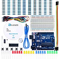 ELEGOO UNO Project Basic Starter Kit with Tutorial and UNO R3 Board Compatible with Arduino IDE for Beginner
